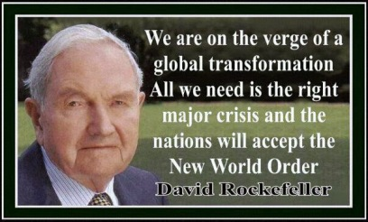 Image result for david rockefeller new world order