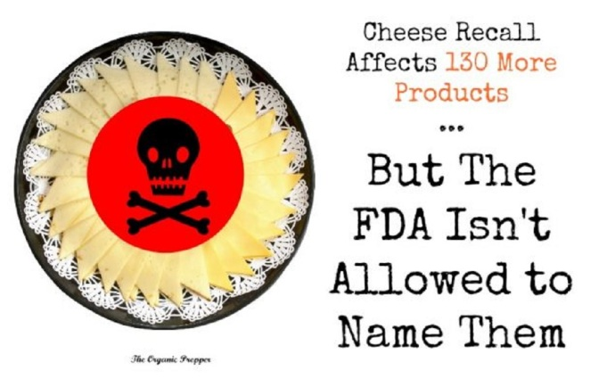 Cheese Recall Affects 130 More Products … But The FDA Isn't Allowed to Name Them