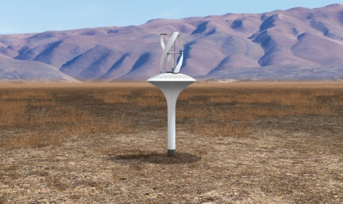 Wind-Powered Device Pulls Up to 10 Gallons of Pure Drinking Water a Day — From Thin Air