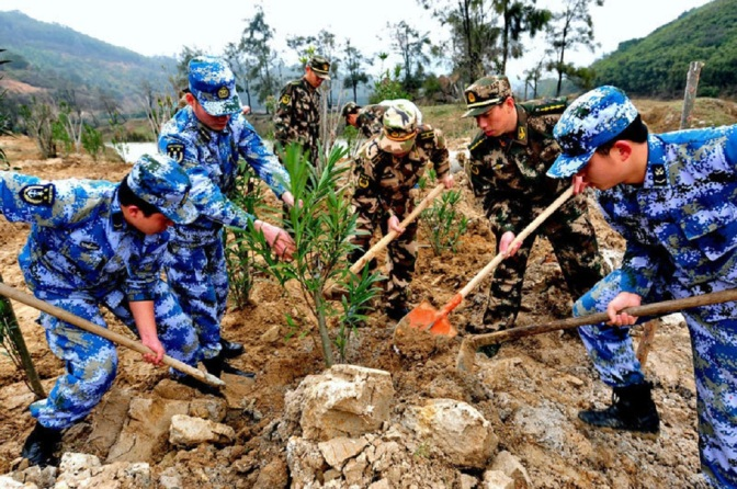 China Is Re-assigning 60,000 Troops — To Plant Trees